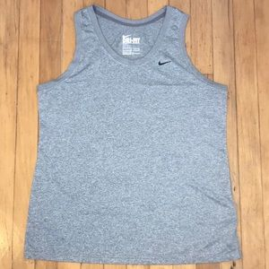 Nike Gray Dry-Fit Tank